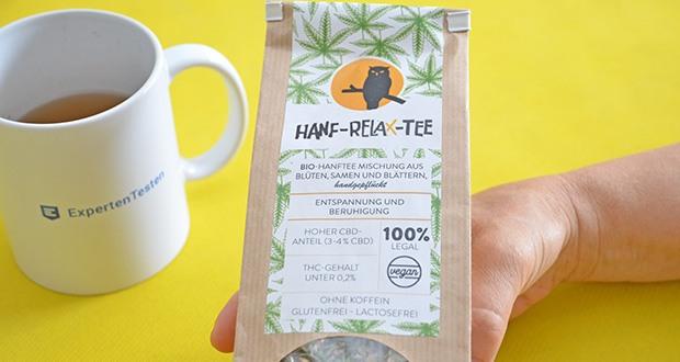 Nachtwaechter Relaxtee aus Hanf-Mischung im Test - hergestellt aus reinen Hanfblüten, -blättern und -samen des Cannabis Sativa (Speisehanf, legal, EU-zertifiziert)