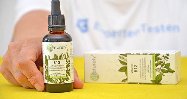 Naturely Vitamin B12 Tropfen im Test - enthalten keinen Alkohol (sind in Glycerin gelöst und somit auch für Kinder und Schwangere geeignet)