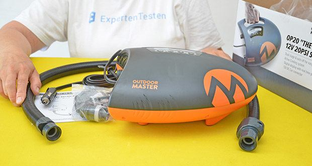 Outdoor Master Shark II SUP Pumpe im Test - vollständige Anpassungsfähigkeit