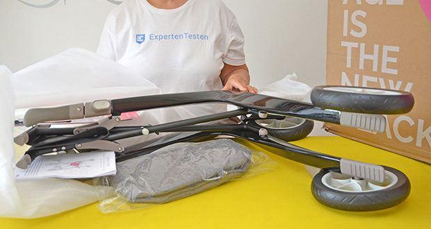 Seniorgo byACRE Carbon-Rollator Klassisch im Test - trotz seiner leichten Bauweise, trägt der Rollator ein Nutzergewicht bis zu 130 kg