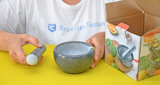 Tera Marmor Mörser und Stößel im Test - solid Nature Black Marble Konstruktion