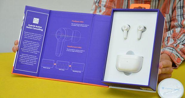 Tronsmart Apollo Air+ ANC In-ear-Kopfhörer im Test - Abmessungen: 60,03 x 32,22 x 37,18 mm, Nettogewicht: 43g