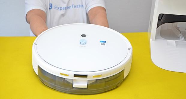 Yeedi Mop Station Roboter-Mopp im Test - die Visual-SLAM-Technologie erfasst in Kombination mit dem Bodenverfolgungssensor präzise den Grundriss Ihres Zuhauses und plant einen akkuraten und effizienten Pfad für die Reinigung
