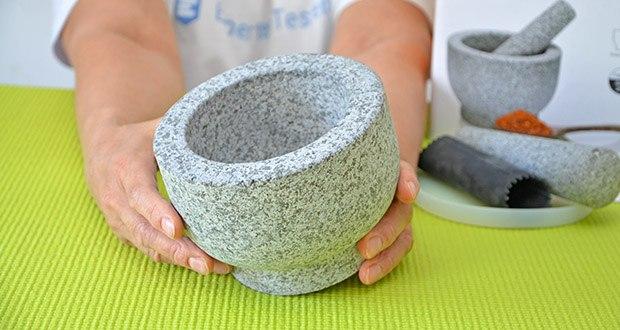 Tera Granit Mörser mit Stößel im Test - hergestellt aus reinem Naturgranit