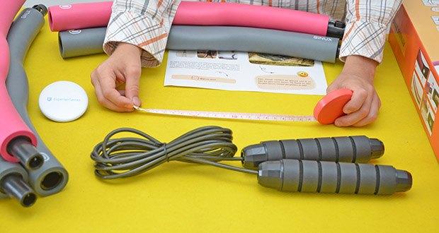GINUX Hula Hoop Reifen im Test - kommt mit Springseil, Maßband und E-Book für Ganzkörperübungen