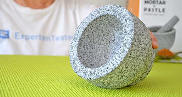 Tera Granit Mörser mit Stößel im Test - Durchmesser: 14 cm; Kapazität: 500 ml