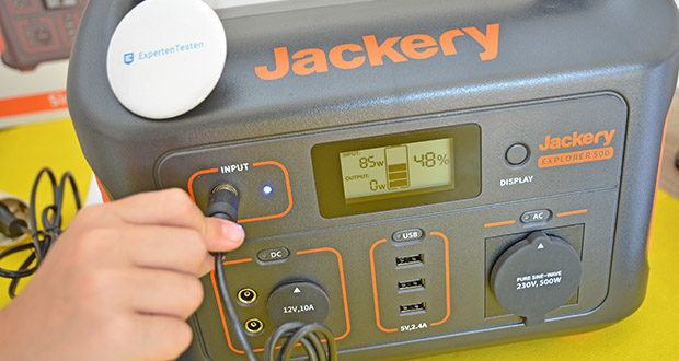 Jackery Tragbare Powerstation Explorer 500 im Test - der Akku dient auch als Solargenerator mit integriertem Solarladeregler mit MPPT-Technologie für höchste Ladeeffizienz