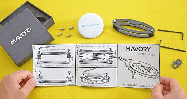 Mavory Carbon Schlüssel Organizer im Test - Verschraubung und hochwertige Kohlenstoff Faser aus der Luft- und Raumfahrttechnik