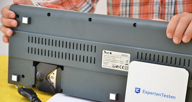 Peach PBP420 Laminiergerät A3 im Test - Laminiergeschwindigkeit : 250 mm/min