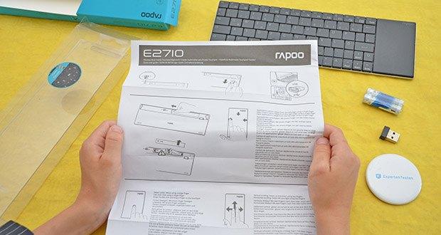 Rapoo E2710 kabellose Tastatur im Test - 2,4 GHz Wireless-Verbindung