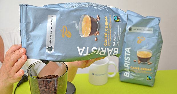 Tchibo BARISTA Caffè Crema Ganze Bohne 1 kg im Test - nachhaltig angebaut und traditionell im Trommelröster veredelt