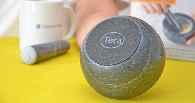 Tera Marmor Mörser und Stößel im Test - mit Anti-Rutsch-Pad