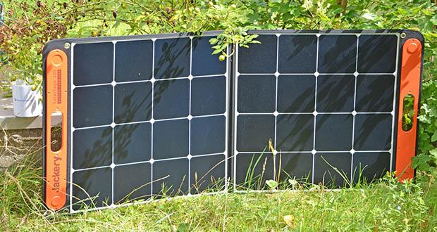 Jackery Faltbares Solarpanel SolarSaga 100 im Test - bewertet mit IP65, einer wasserfesten Stufe, die vor Spritzwasser schützt