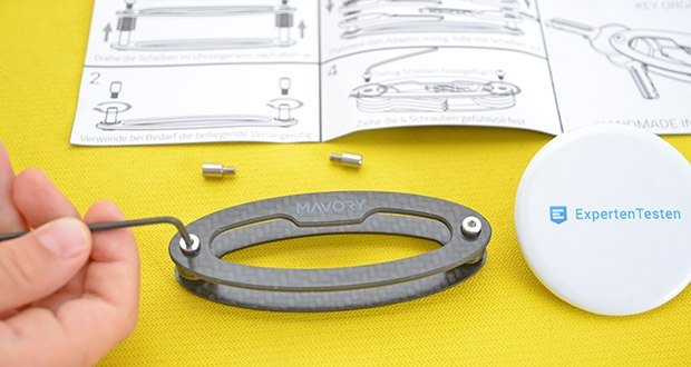 Mavory Carbon Schlüssel Organizer im Test - Hand geschliffene, gerundete und mit Leder polierte Schnittkanten