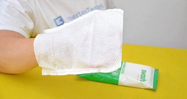 Seniorgo Swash Golden Gloves Waschhandschuhe im Test - verfügen über eine ergonomische und einzigartige Passform