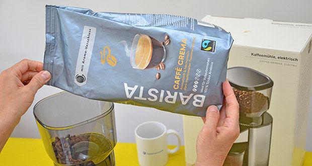 Tchibo BARISTA Caffè Crema Ganze Bohne 1 kg im Test - stammen insbesondere aus dem sonnigen Brasilien und werden je nach Saison ergänzt mit erlesenen Hochland-Bohnen aus Lateinamerika
