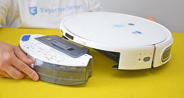 Yeedi Mop Station Roboter-Mopp im Test - der integrierte Akku mit einer Kapazität von 5200 mAh ermöglicht mit einer einzigen Akkuladung eine Laufzeit von bis zu 180 Minuten
