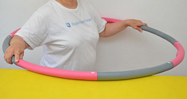 GINUX Hula Hoop Reifen im Test - exklusives Wellen-Design zur Stärkung von Bindegewebe und Bauch- und Kernmuskulatur