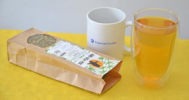 Nachtwaechter Relaxtee aus Hanf-Mischung im Test - ohne Koffein, daher geeignet als Abendtee vor dem Schlafengehen