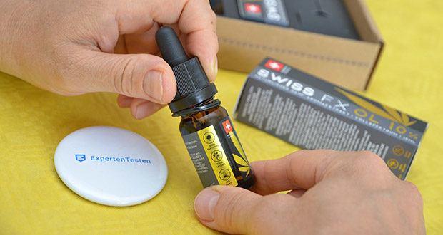 SWISS FX CBD Öl Set 5/10/15% im Test - kaltgepresst aus ökologischer Schweizer Landwirtschaft