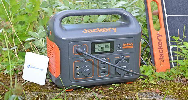 Jackery Tragbare Powerstation Explorer 500 im Test - einfach aufzuladen mit Solarmodul, Netzteil oder im Auto