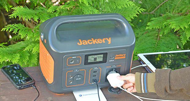 Jackery Tragbare Powerstation Explorer 500 im Test - unterwegs digitale Geräte wie Kameras, Tablets, GoPro, Drohnen u.s.w. bleiben voll aufgeladen