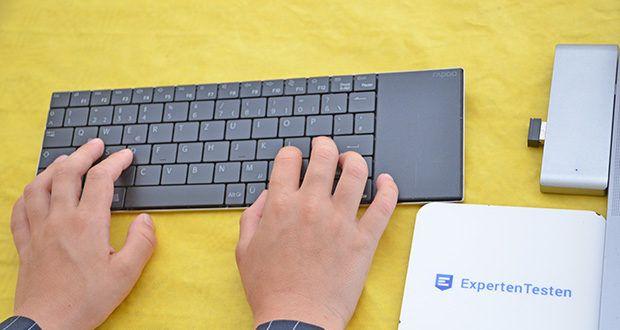 Rapoo E2710 kabellose Tastatur im Test - ultraschlankes 5.6 mm-Design