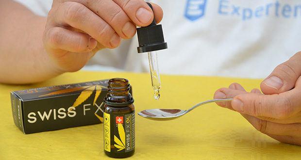 SWISS FX CBD Öl Set 5/10/15% im Test - je Tropfen sind es etwa 4mg CBD