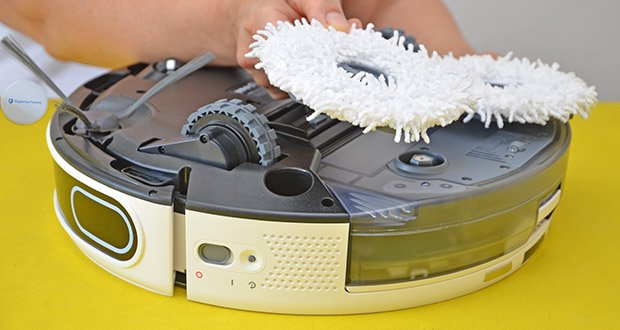 Yeedi Mop Station Roboter-Mopp im Test - 2 sich drehende Wischmopps, die mit einem Druck von 10 N auf den Boden gedrückt werden, entfernen allen Schmutz und jeden Fleck