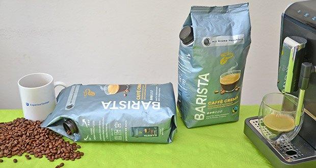 Tchibo BARISTA Caffè Crema Ganze Bohne 1 kg im Test - Caffè Crema in Profi-Qualität