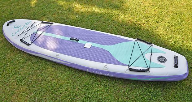 Outdoor Master Violet Spirit iSUP Board im Test - das stromlinienförmige Design passt in alle Wasserbedingungen