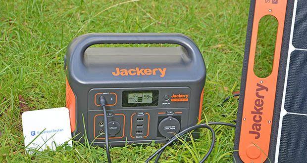 Jackery Tragbare Powerstation Explorer 500 im Test - laden per Jackery SolarSaga 100 Solar Panel in ca. 9,5 Stunden