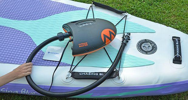 Outdoor Master Shark II SUP Pumpe im Test - ein perfekter Begleiter für jedes Abenteuer
