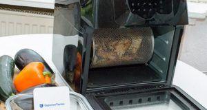 Was sind die Hygienehinweise zum Kochen mit einer Heißluftfritteuse im Test?