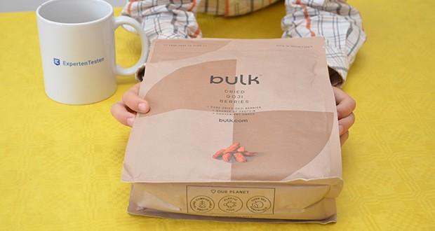 Bulk Goji Beeren Getrocknet im Test - getrocknete Goji-Beeren von Bulk ohne Zusatz von Konservierungs- oder Zusatzstoffen