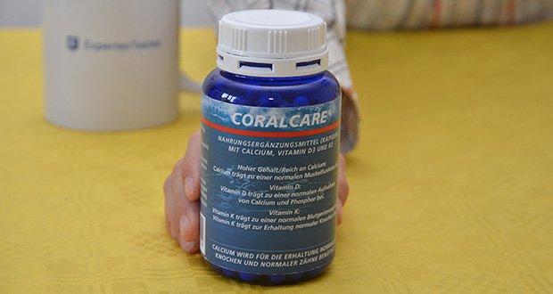 Coralcare Coral Calcium mit Vitamin D3 und K2 im Test - hoher Gehalt an Calcium mit Vitamin D3 und K2
