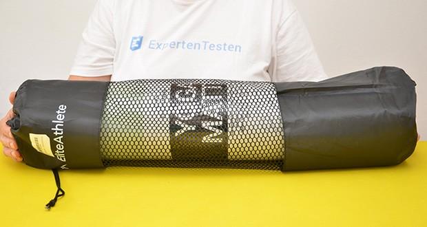 EliteAthlete Yogamatte im Test - Maße: 183 x 61 x 0,6cm; Gewicht: 900 Gramm