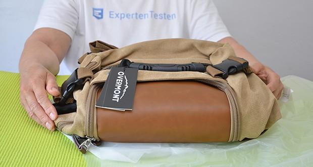 Overmont Vintage Wanderrucksack im Test - Produktabmessungen: 36 x 28 x 7 cm; Gewicht: 1.32 kg