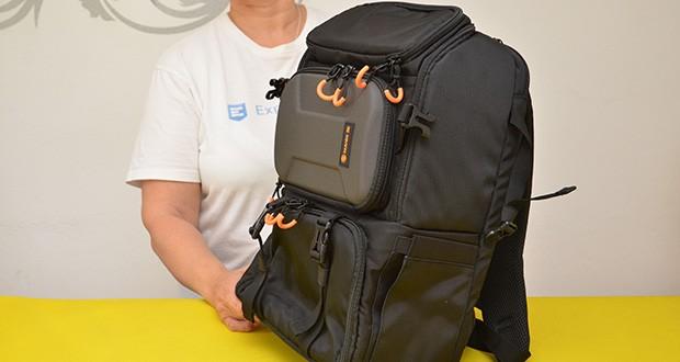 Tarion Kamerarucksack Fotorucksack im Test - schneller seitlicher Zugriff und obere Taschenöffnung