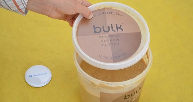 Bulk Cashewbutter Crunchy, 1 kg im Test - ist vollkommen natürlich und enthält nichts als leckere, 100% geröstete ganze Cashewnüsse