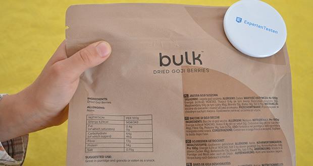Bulk Goji Beeren Getrocknet im Test - geliefert in einem praktischen, wiederverschließbaren Beutel, um vollständige Frische zu gewährleisten