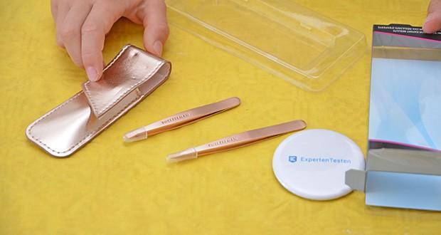 Tweezerman Rose Gold Petite Pinzetten-Set im Test - inklusive Reisetasche aus Kunstleder