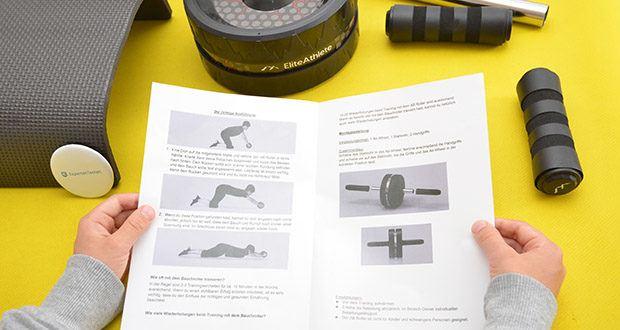 EliteAthlete Bauchtrainer schwarz im Test - beansprucht die Bauchmuskulatur in Kombination mit dem gesamten Oberkörper