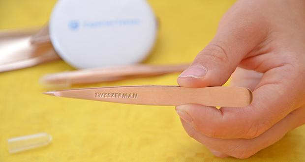 Tweezerman Rose Gold Petite Pinzetten-Set im Test - Spitzpinzette: zur effektiven Entfernung eingewachsener Haare
