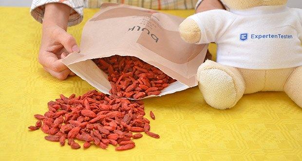 Bulk Goji Beeren Getrocknet im Test - kann den Mahlzeiten, Riegeln und Rezepturen hinzugefügt werden, um den Nährwert zu erhöhen und einen fruchtigen Geschmack hinzuzufügen