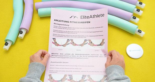 EliteAthlete Fitnessreifen Hula Hoop im Test - durch Verwendung von High-Perfomance-Materialien, ist der Reifen extrem haltbar und robust