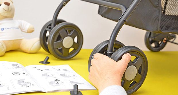 Hauck Sport Buggy im Test - bei Bedarf lassen sich die Räder einfach feststellen