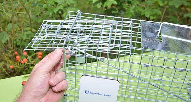 Elbe Lebendfalle MAF04 61x18x21cm im Test - Trennwände und dichte Gitter schützen vor dem Kontakt mit den Tieren