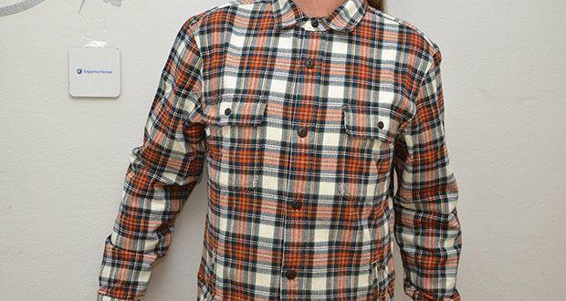 Goodthreads Herren-Flanelljacke im Test - ein hübscher Schattenkaro aus schwerem, gebürstetem Flanell macht diese Hemdjacke zum Lieblingsstück