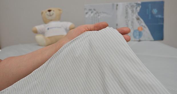Elegear Arc-Chill Sommerdecke Kühldecke im Test - der Stoff ist OEKO-TEX zertifiziert und ist freundlich zu empfindlicher Haut